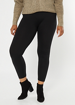 Plus Black Super Soft Essential Leggings