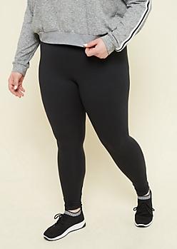 Plus Black Super Soft High Waisted Leggings