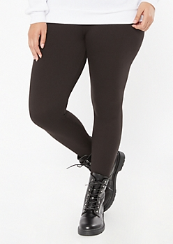 Plus Black High Waisted Super Soft Stretch Leggings