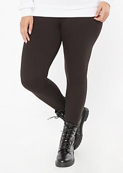 Plus Black High Waisted Super Soft Stretch Leggings