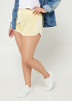 Plus Yellow Hello Sunshine Dolphin Shorts
