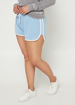Plus Blue Super Soft Dolphin Shorts