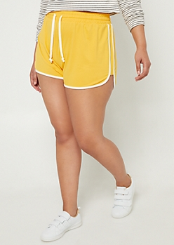 Plus Yellow Super Soft Dolphin Shorts