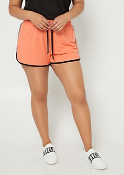 Plus Coral Super Soft Dolphin Shorts