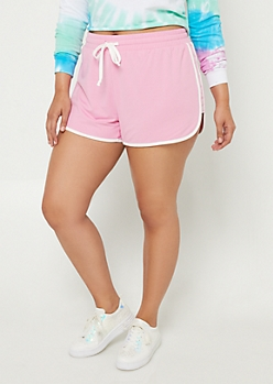 Plus Pink Super Soft Dolphin Shorts