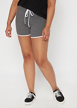 Plus Gray Super Soft Dolphin Shorts