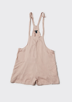 Plus Taupe Shoulder Tie Romper
