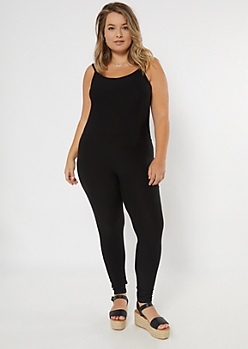 Plus Black Skinny Jumpsuit