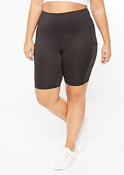 Plus Black Cell Phone Pocket Leggings