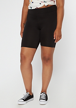 Plus Black Super Soft Bike Shorts