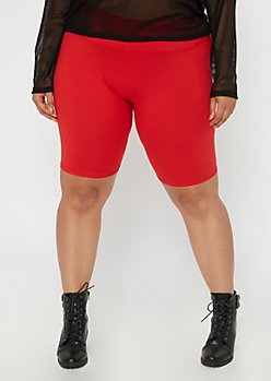 Plus Red Super Soft Bike Shorts