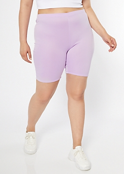 Plus Purple Active Bike Shorts