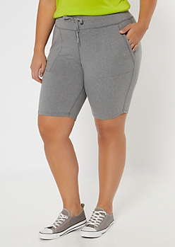 Plus Gray Utility Pocket Bike Shorts