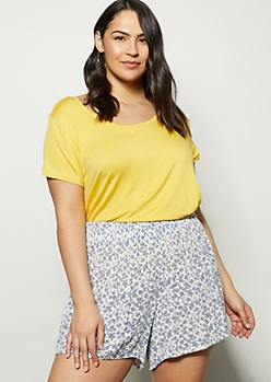 Plus Yellow Favorite Scoop Neck Relaxed Tee