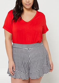 Plus Red Favorite Relaxed Fit Tee