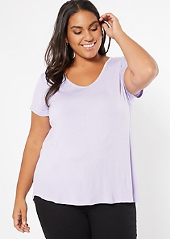 Plus Lavender Favorite Relaxed Tee