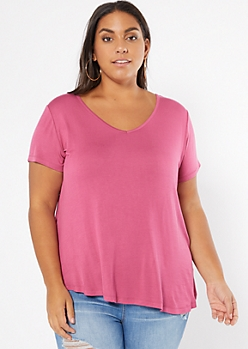 Plus Pink Favorite Relaxed Tee