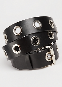 Grommet Lined Belt - Wider Fit