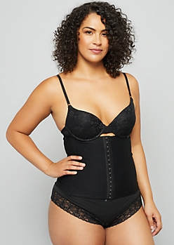 Plus Black Corset Shapewear