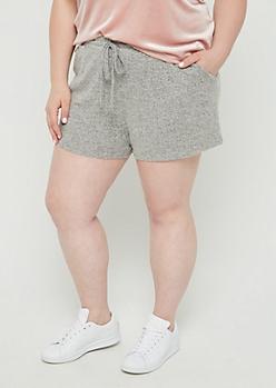Plus Gray Cozy Short
