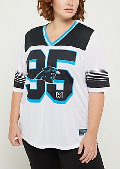 Plus Carolina Panthers Striped Football Jersey